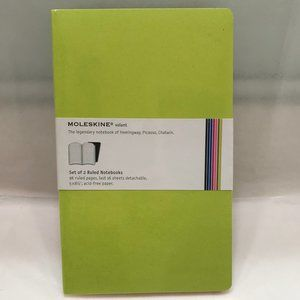 Moleskine notebook journals set of 2 green NEW